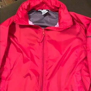 Columbia rain jacket red